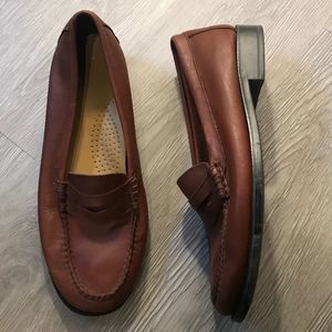 Brown Leather Loafers G.H. Bass Size 9